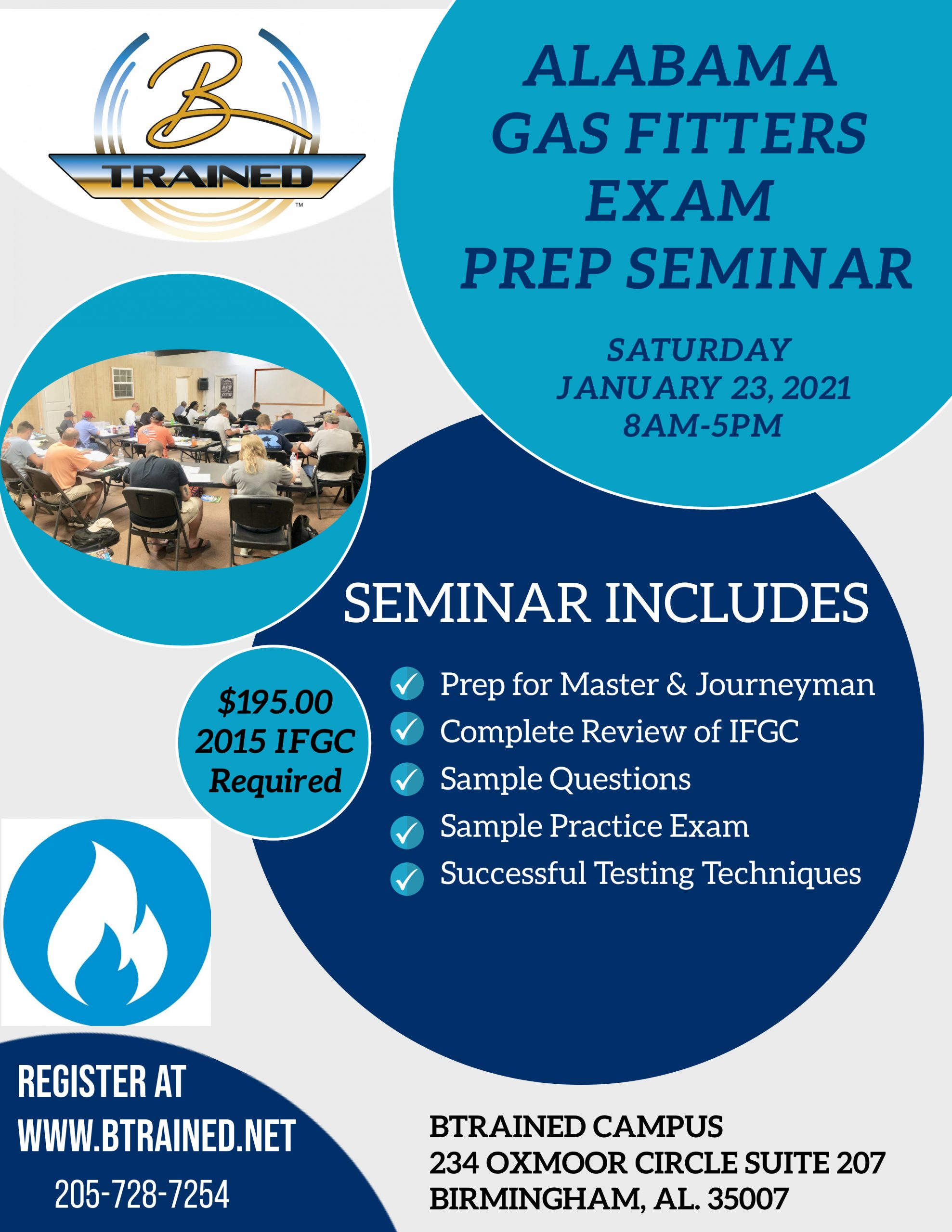 Alabama Gas Fitters Exam Prep Seminar January 23, 2021